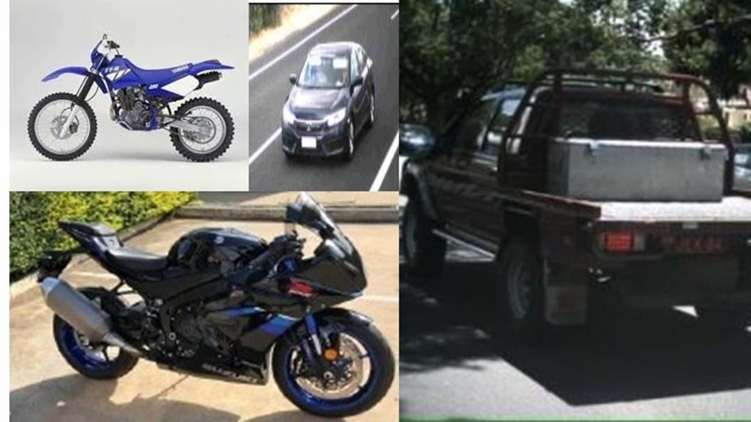 Article heading image for Toowoomba Police are Still Looking to Locate Four Outstanding Stolen Vehicles