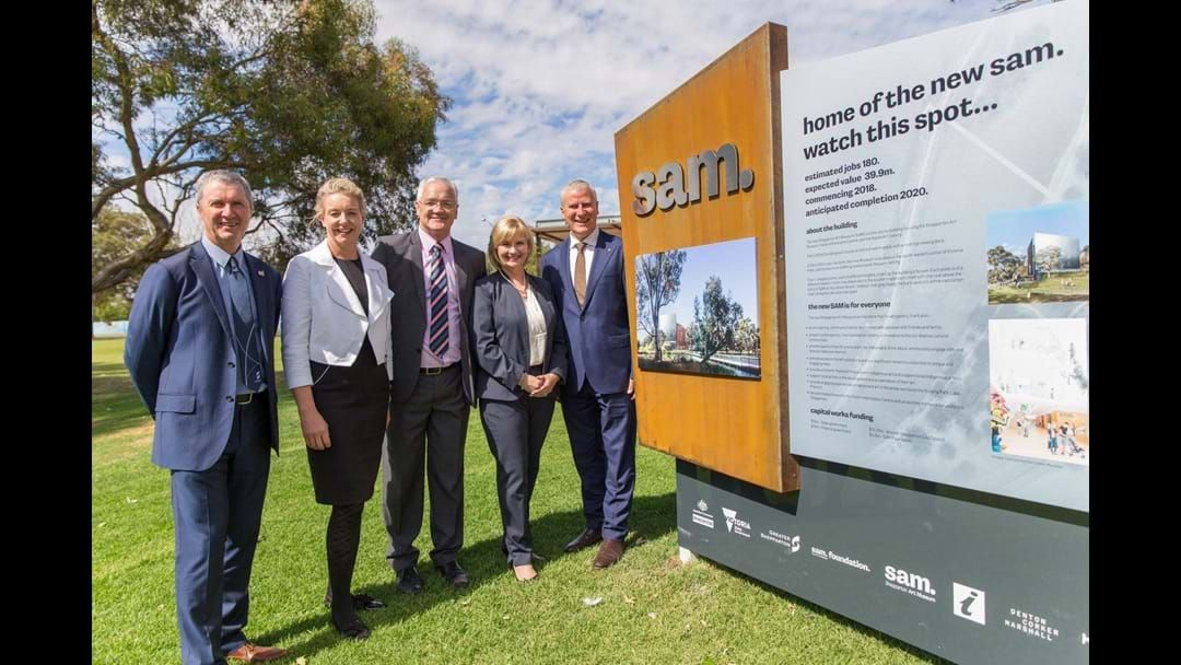 Article heading image for Deputy Prime Minister visits new art museum site