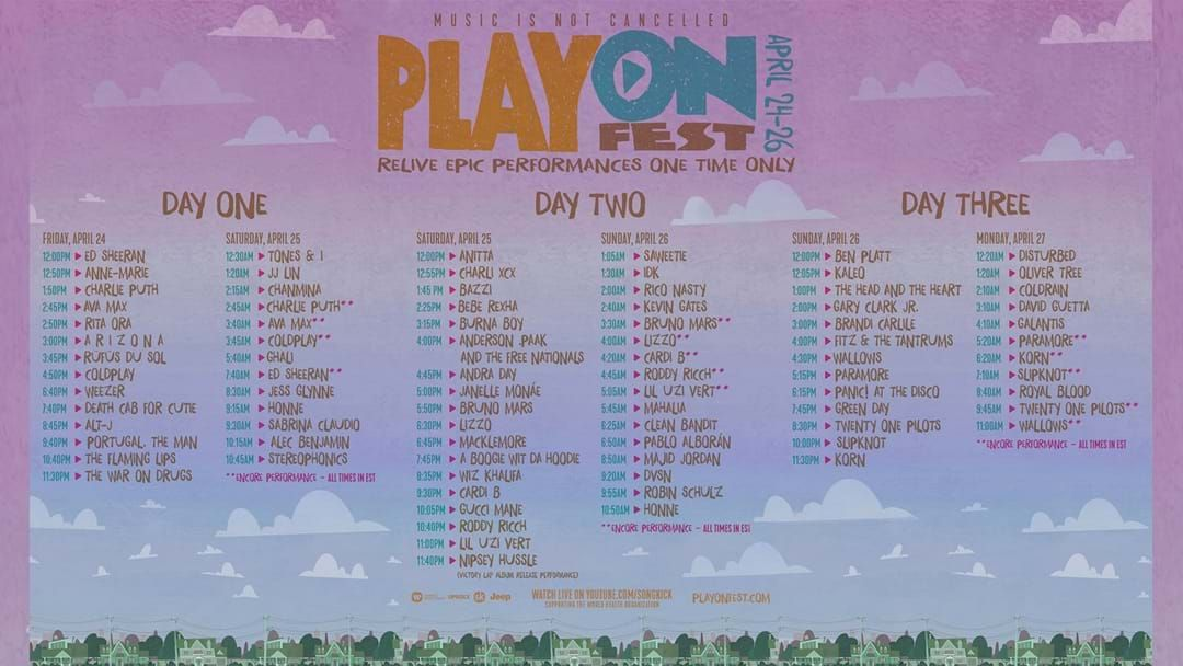 Article heading image for Catch Lizzo, Ed Sheeran And More At The PlayOn Festival... From Home!