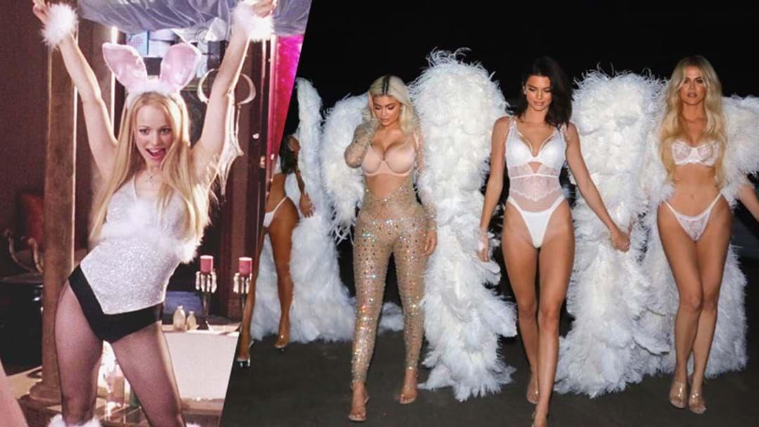Costume Halloween Regina.The Kardashians Go Full Regina George For Vs Lingerie Halloween
