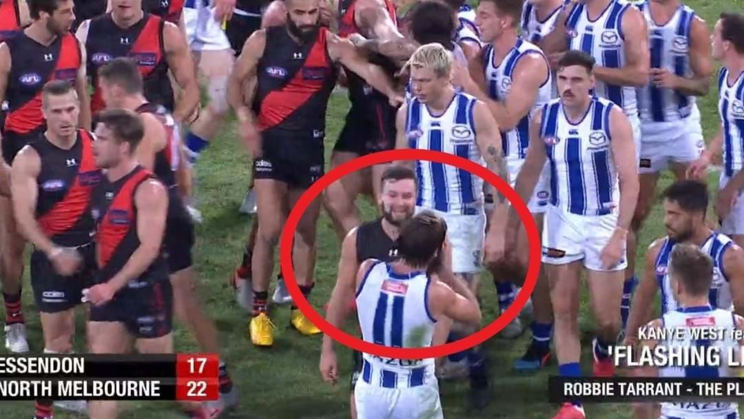 Article heading image for Ross Lyon Reacts To Luke McDonald's Face Mask Gesture