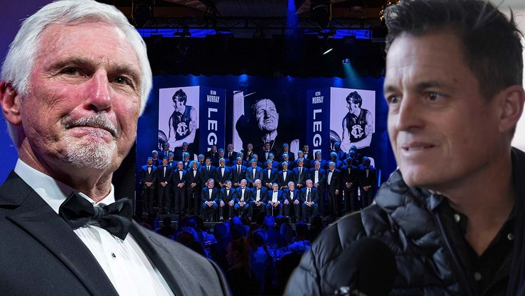 Article heading image for LISTEN | The Awkward Interaction Between Mick Malthouse And Mark Stevens At The Hall Of Fame