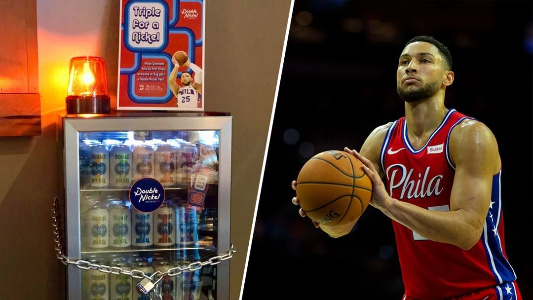 Article heading image for A Bar In The US Is Offering Free Beer When Ben Simmons Hits His First 3-Pointer