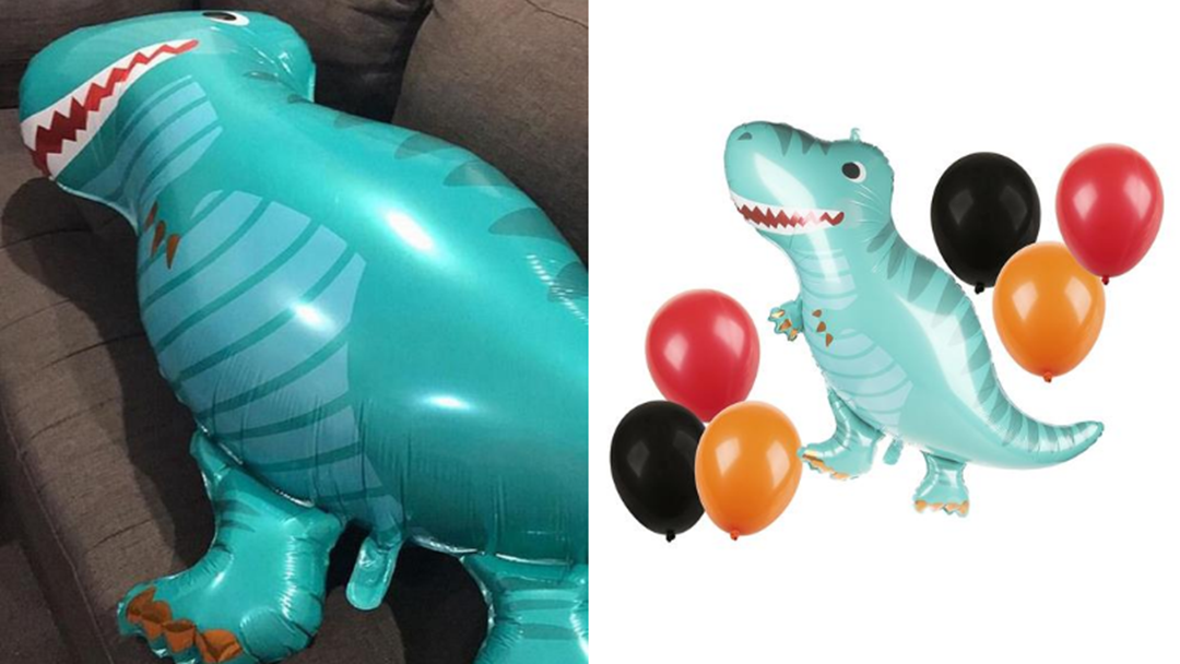 Article heading image for Aussie Mum Left Horrified By X-Rated Discovery On Her Son's Dinosaur Balloon!