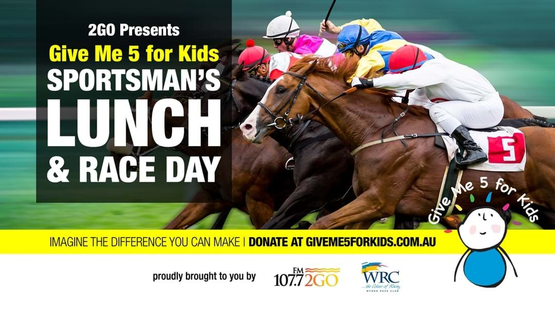 Article heading image for 2GO's Give Me 5 For Kids Sportsman's Lunch