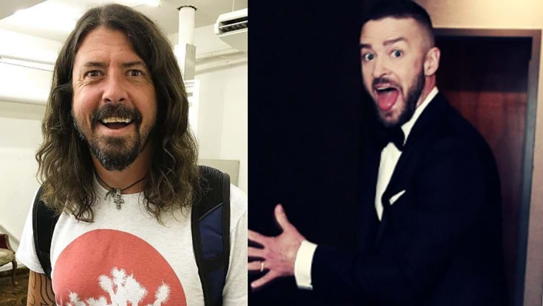 Article heading image for Foo Fighters Say Justin Timberlake 'Nailed' His Guest Vocals On Their New Album
