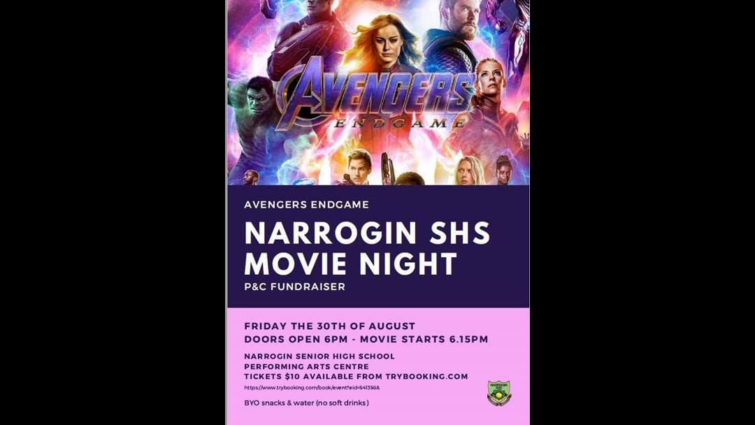 Article heading image for Narrogin SHS Movie Night