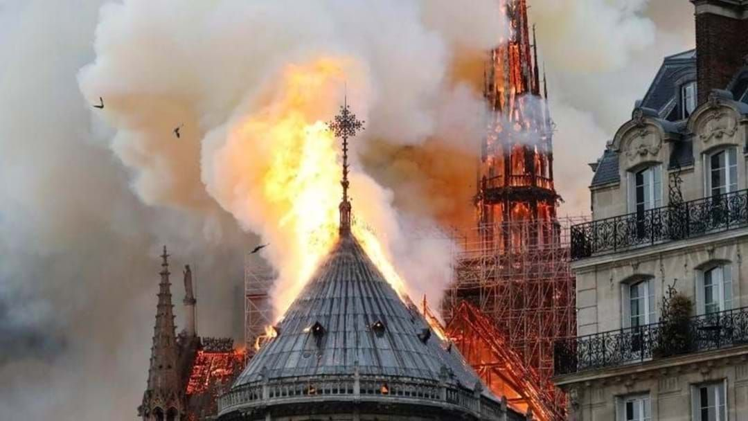 Article heading image for The Notre Dame Cathedral in Paris is on fire this morning.
